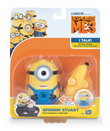 Disney Despicable Me Minion Spinning Stuart with Banana launcher sounds ... - $49.00