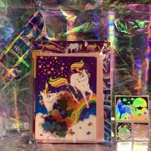 Lisa Frank Sealed Markie Stationery Prism Stickers Holographic Unicorns Rare HTF