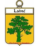 LAINE French Coat of Arms Print LAINE Family Crest - $25.00