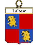 LALANE French Coat of Arms Print LALANE Family ... - $25.00