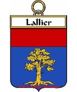 LALLIER French Coat of Arms Print LALLIER Famil... - $25.00