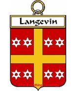 LANGEVIN French Coat of Arms Print LANGEVIN Fam... - $25.00