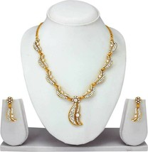 Statement Designer Indian Fashion Gold Plated Party Jewelry Diamond Neck... - $16.82