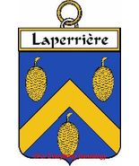 LAPERRIERE French Coat of Arms Print LAPERRIERE... - $25.00