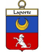LAPORTE French Coat of Arms Print LAPORTE Famil... - $25.00