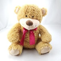 "Animal Adventure Teddy Bear 20"" Plush Stuffed Soft Brown Bear with Bow - $19.24"