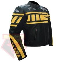 YAMAHA 0120 YELLOW MOTORCYCLE MOTORBIKE BIKERS ARMOURED COWHIDE LEATHER ... - $194.99