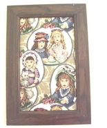 Victorian Girls or Dolls Tapestry Picture - $24.97