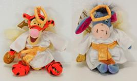 """Disney Store CHOIR ANGEL TIGGER & EEYORE Bean Bag Toys NWT 9"""" Retired - $15.99"""