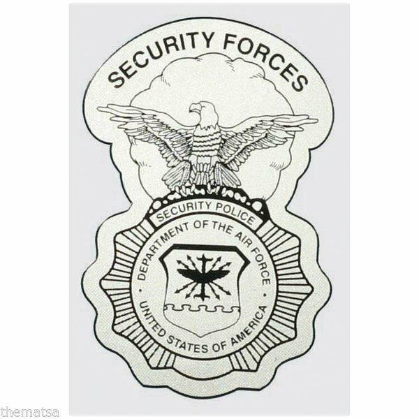 "Primary image for AIR FORCE SECURITY FORCES POLICE BADGE MILITARY 5"" DECAL"