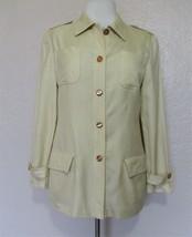 Vintage Valentino Jacket Miss V 42 8 US Women yellow silk/wool - $51.47