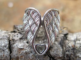 Haunted 777,000 Angels Ring Sterling silver wings Positive powers  - $111.11