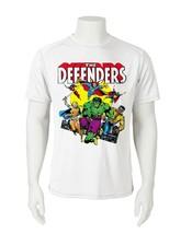 Defenders Dri Fit graphic Tshirt moisture wick SPF retro comic sport Sun Shirt image 1