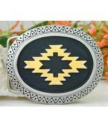 Southwestern Belt Buckle Geometric Indian Desig... - $14.95