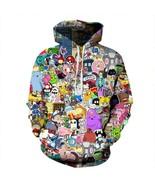 Men's Digital Print Gameboy Hoodie Unisex Haunting Dream Pullover hooded... - $31.65