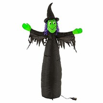Halloween Haunters 5 Foot Inflatable Scary Black and Green Witch with LE... - €35,93 EUR