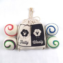 Fully Wooly Wool Dryer Balls 4 Pk Color Swirl Natural Laundry Fabric Sof... - $9.49