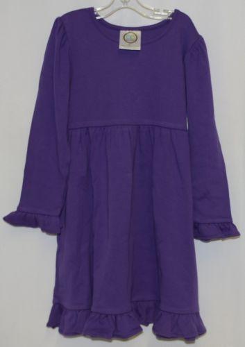 Blanks Boutique Long Sleeve Empire Waist Purple Ruffle Dress Size 5T