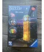 GERMANY RAVENSBURGER 3D PUZZLE BIG BEN NIGHT EDITION RV12588 - $34.60