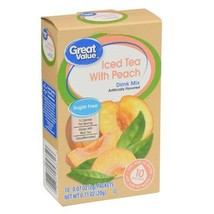 Great Value: Decaffeinated Iced Tea with Peach Drink Mix, .71 Oz Pack of 6 - $19.61