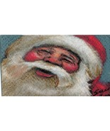 Original ACEO Drawing Santa Claus Christmas laughing - $7.99