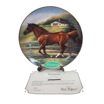 Danbury Mint Race Horse Collector Plate Whirlaway Champion Thoroughbreds Collect - $44.99