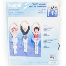 Janlynn Plastic Canvas Ballerina Trio Kit 60-203 VTG Yarn Ribbon Tulle B... - $25.60