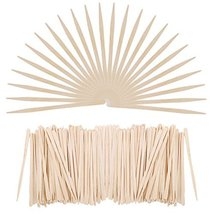Senkary 500 Pieces Wooden Wax Sticks Waxing Sticks Wood Wax Applicator Sticks fo image 4