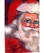 Original ACEO Drawing Santa Claus Christmas - $7.99