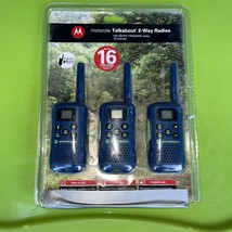3-pk Motorola GMRS/FRS 22-Channel 2-Way Radio, MG163TPA up to 16 miles  ... - $27.23