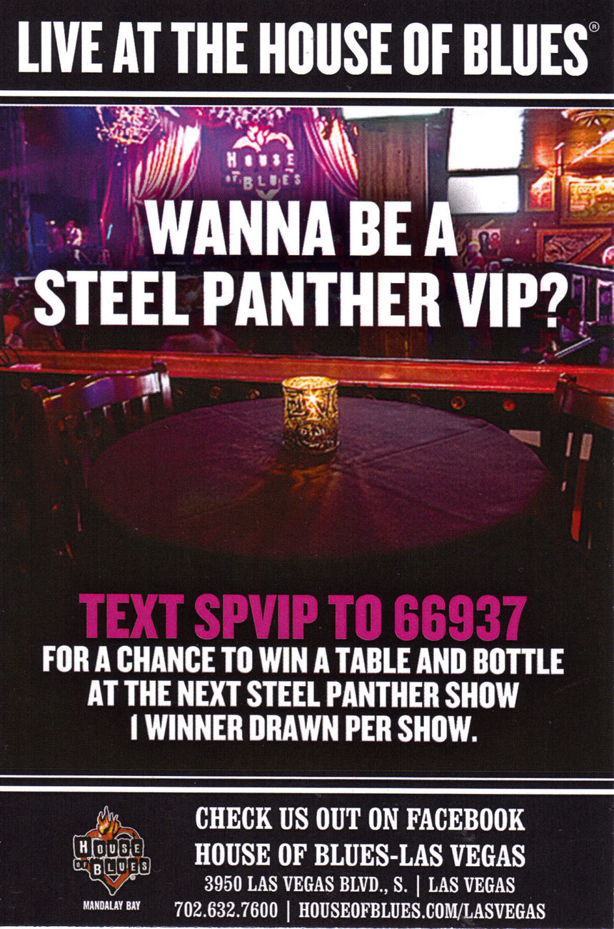 STEEL PANTHER Live @ The House of Blues Mandalay Bay Promo C