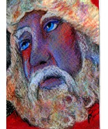 original aceo art drawing Santa Claus Christmas - $7.99