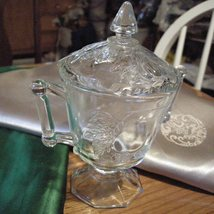Art Nouveau Glass Sugar Bowl Lid 1910 Era - $38.75