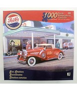 Michael Young Pepsi Cola Puzzle Gas Station Antique Car 1000 piece 20x27 age 13+ - $14.80