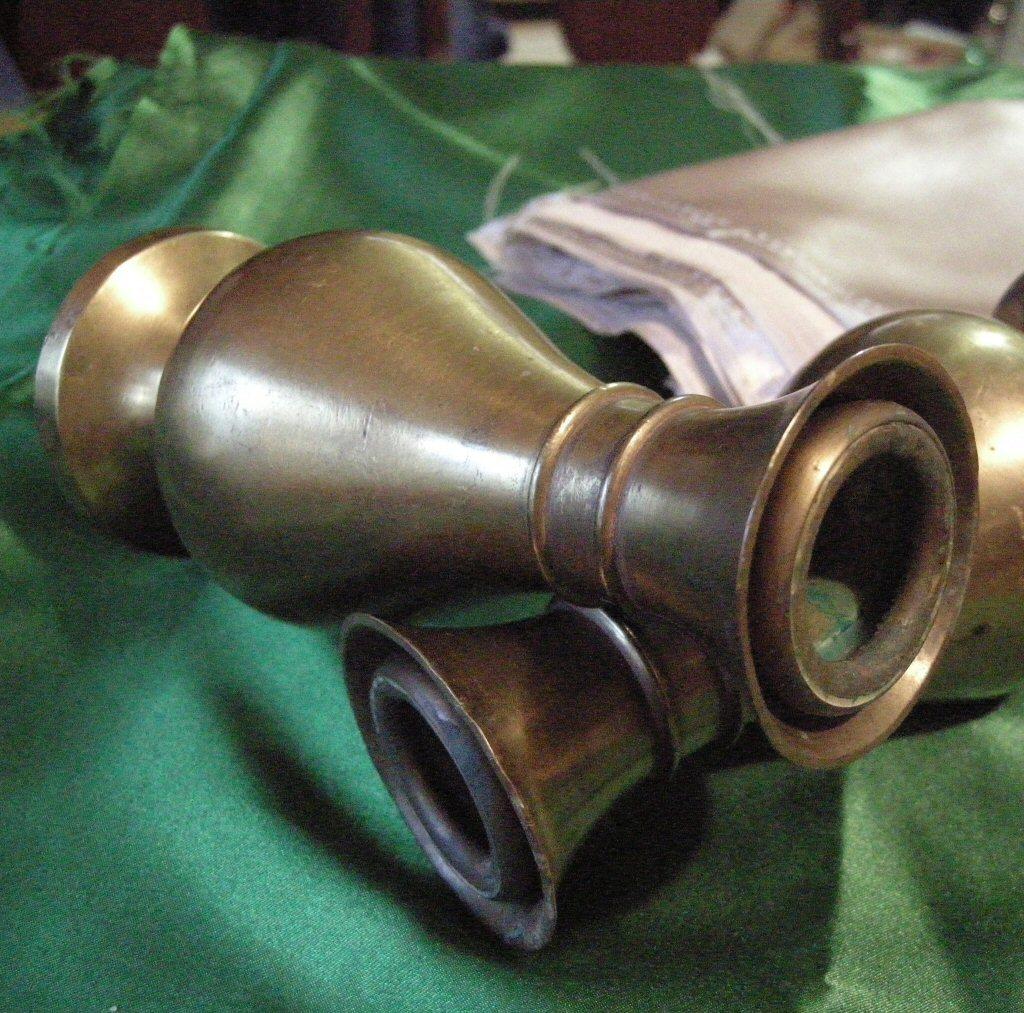 2 Heavy Brass Candlestcks 6 1/8 Tall