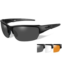 Wiley X Saint Sunglasses - Smoke Grey/Clear/Rust Lens - Matte Black Frame - $85.50