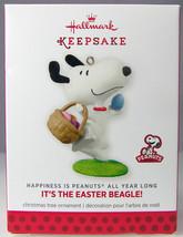 IT'S THE EASTER BEAGLE 2014 Hallmark Christmas Holiday Ornament NIB Peanuts - $9.50