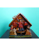 Vintage Indian Creche Nativity Ornament Hand Ma... - $45.00