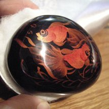 Hand Painted Lacquer Carved Layer Picture - $19.50