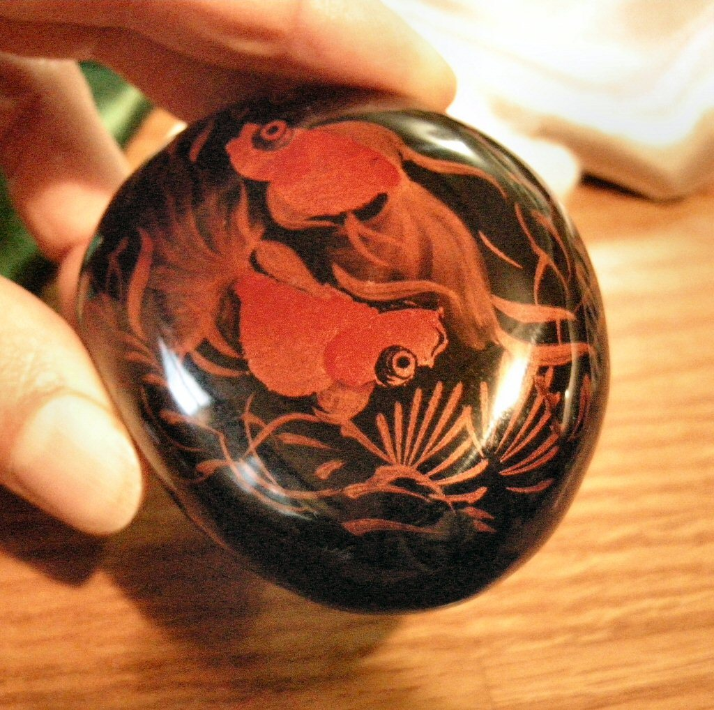 Hand Painted Lacquer Carved Layer Picture