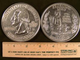 "Big 3"" Inch Metal Coin Replica of a 2003 Issue Alabama State Quarter - $6.75"