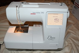 Bernette Deco 340 Embroidery Machine As Pictured Powers On Good motor 51... - $635.00
