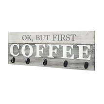 Barnyard Designs 'Ok, But First Coffee' Mug Holder - Rack - Display, Rustic Farm image 4