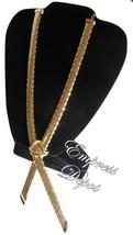 Rare Stationary Lariat Style Gold Tone Whiting & Davis Mesh Necklace Jew... - $59.95