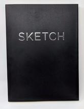 Open Bound Sketchbook - Black - Large 100 GSM Wood-free Acid-Free Paper  - $13.99