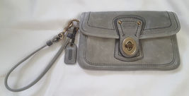 Coach clay gray leather capacity wristlet 40708 Legacy 2007 - $42.00
