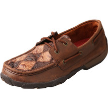 Women's Twisted X Brown Ostrich Driving Mocs D Toe - WDM0056 - $114.25