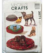 3071 Pet Beds & Coats 3 Sizes! McCalls Pattern NEW  - $7.99