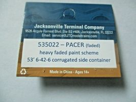 Jacksonville Terminal Company # 535022 Pacer (faded)  53' Container (N) image 4