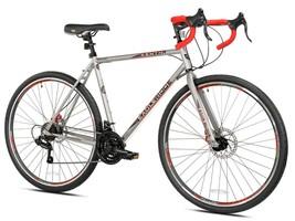 Kent 700c Eagle Ridge Adventure Gravel Men's Large Bike,Silver/Red Free Shipping - $474.99